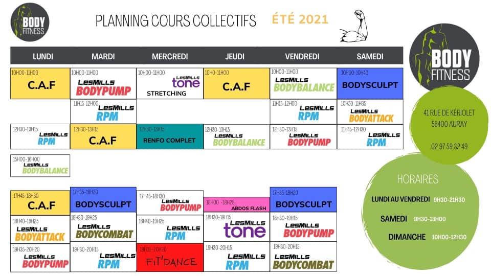 PLANNING BODYFITNESS ETE 2021